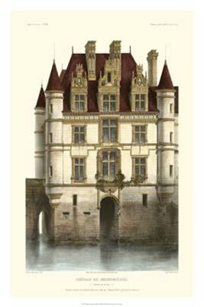 Framed French Chateaux In Brick I Print