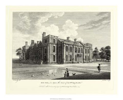 Framed Hill Hall In Essex Print