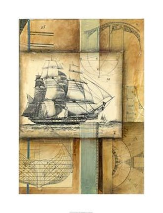 Framed Nautical Passage Print