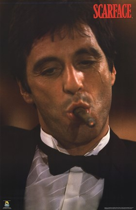 Framed Scarface Portrait Print