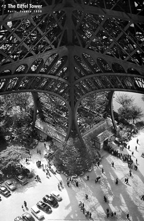 Framed Eiffel Tower-Ground Print