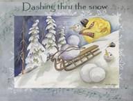 Dashing Thru The Snow  Fine Art Print