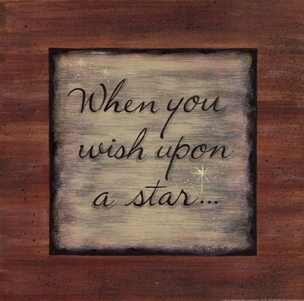Framed Wish Upon a Star Print