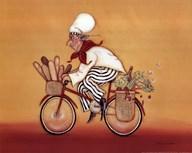 Biking Chef  Fine Art Print