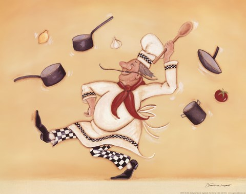 Dancing Chef Fine Art Print By Stephanie Marrott At