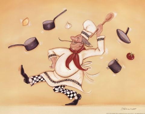 Dancing Chef Fine Art Print By Stephanie Marrott At