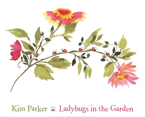 Framed Ladybugs In The Garden Print