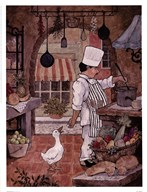 Chef With Goose Art