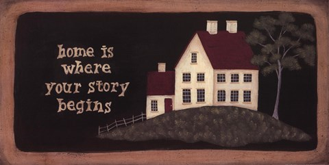 Framed Home is Where Story Print