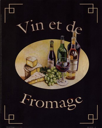 vin et de fromage fine art print by catherine jones at. Black Bedroom Furniture Sets. Home Design Ideas