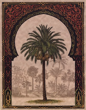 Framed Moorish Palms II Print
