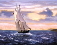 East Wind Sails  Fine Art Print