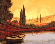 La Barca Al Tramanto  Fine Art Print