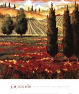 Tuscany In Bloom III  Fine Art Print