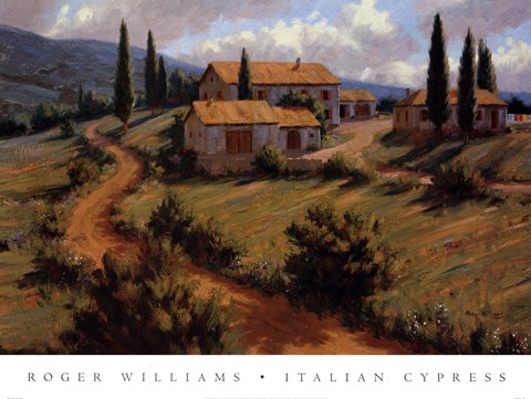 Italian Cypress Fine Art Print By Roger Williams At
