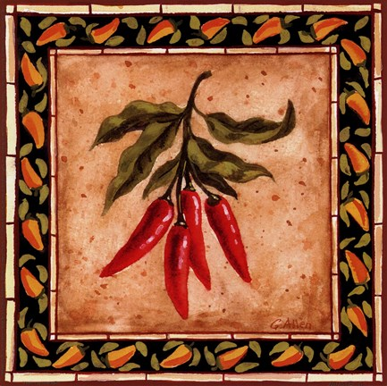 Framed Chiles I Print
