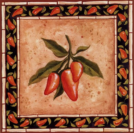 Framed Chiles III Print
