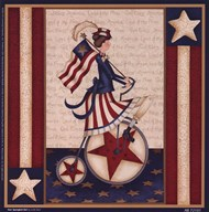 Star Spangled Girl  Fine Art Print