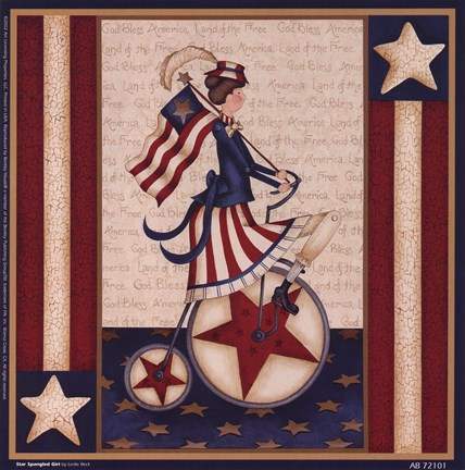 Framed Star Spangled Girl Print