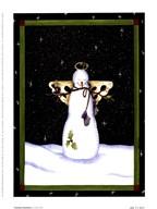 Praying Snowman  Fine Art Print