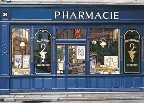 Framed Pharmacie Print