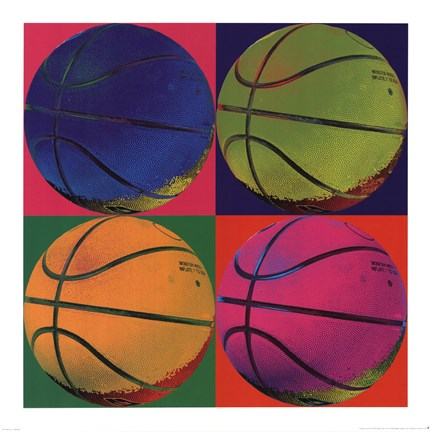 Framed Ball Four - Basketball Print