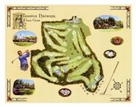 Golf Course Map-Augusta  Fine Art Print
