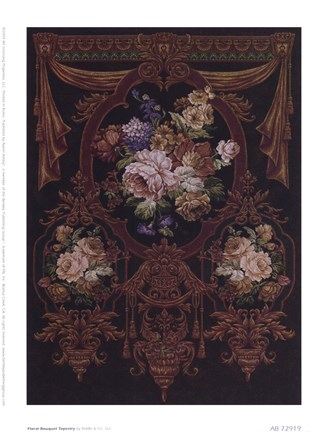 Framed Floral Bouquet Tapestry Print