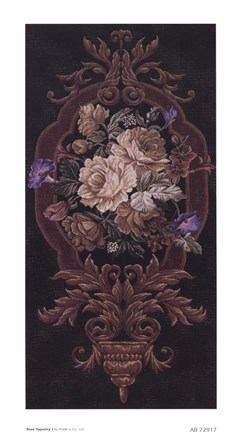 Framed Rose Tapestry I Print