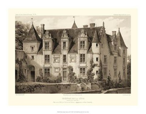 Framed Petite Sepia Chateaux III Print