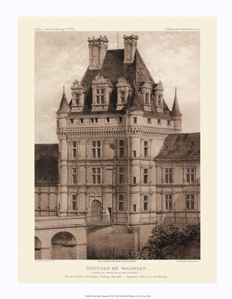 Framed Petite Sepia Chateaux VIII Print