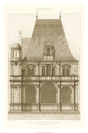 Framed French Architecture II Print