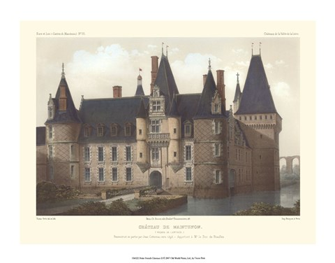Framed Petite French Chateaux II Print