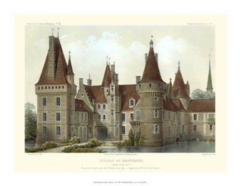 Framed Petite French Chateaux IV Print