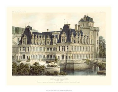 Framed Petite French Chateaux V Print