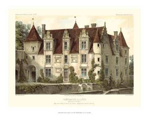 Framed Petite French Chateaux VI Print