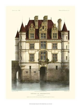 Framed Petite French Chateaux IX Print
