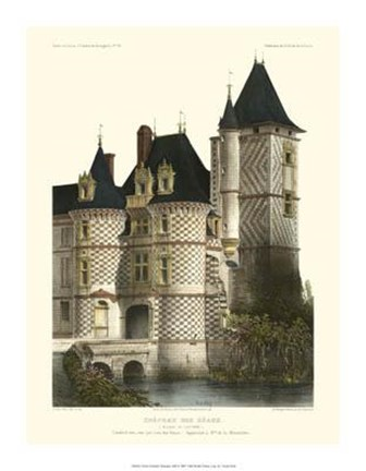 Framed Petite French Chateaux XII Print