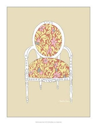 Framed Decorative Chair I Print