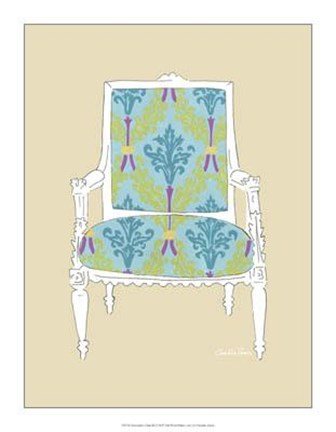 Framed Decorative Chair III Print