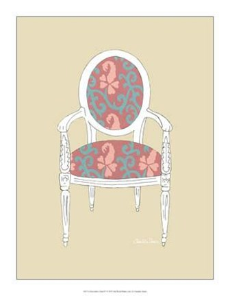 Framed Decorative Chair IV Print
