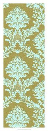 Framed Vivid Damask In Gold I Print