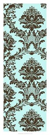 Framed Vivid Damask In Blue II Print