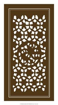 Framed Shoji Screen In Brown II Print