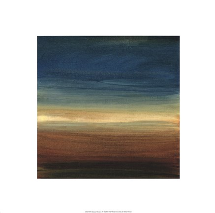 Framed Abstract Horizon IV Print