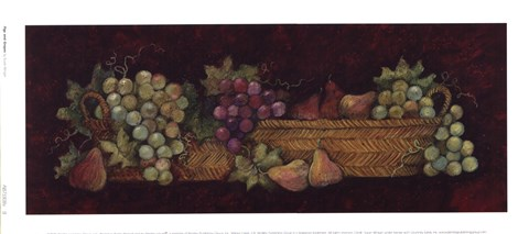 Framed Figs And Grapes Print