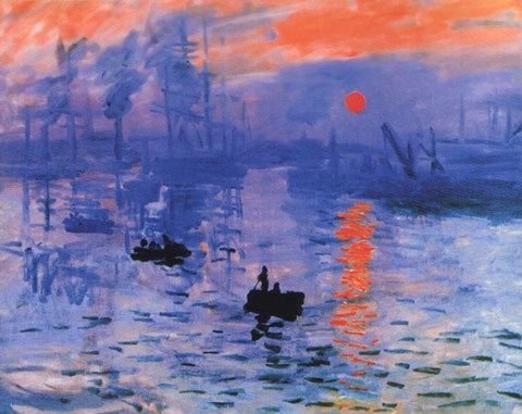 Impression Sunrise C 1872 Blue Wall Poster By Claude