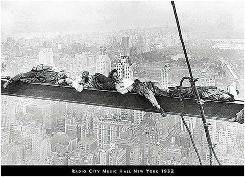 Framed Men on Beam - Radio City, 1932 Print