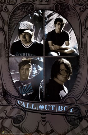 Framed Fall Out Boy - Group Print