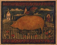 Farmhouse Pig  Fine Art Print